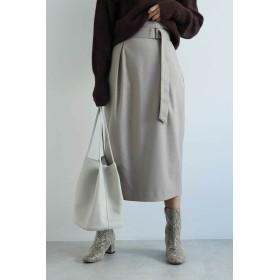 【公式/フリーズマート】コクーンタックナロースカート/女性/スカート/グレージュ/サイズ:FR/(表生地)ポリエステル 69% レーヨン 30% ポリウレタン 1%(裏生地)ポリエステル 100%