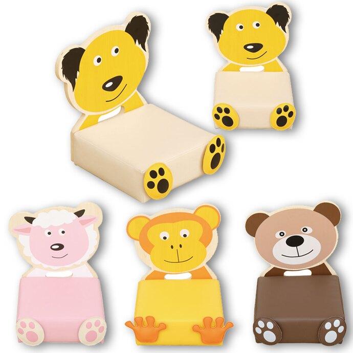 【華森葳兒童教玩具】沙發座椅系列-和風休閒座墊 (小狗 GP1-4207/小羊 GP1-4208/小猴 GP1-4209/小熊 GP1-4210)