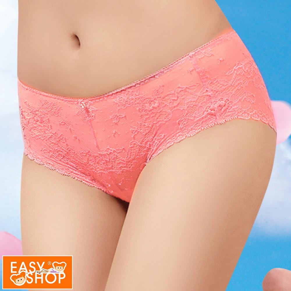 EASY SHOP-Lucky Bra開運 中腰平口褲(活珊瑚橘)