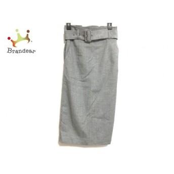 ピンキー&ダイアン Pinky&Dianne スカート サイズ34 S レディース 美品 ライトグレー×黒   スペシャル特価 20191228