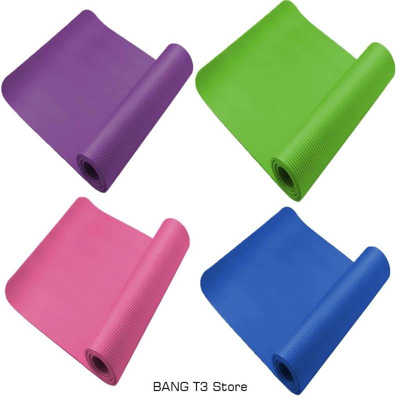 【贈背袋束帶】瑜珈墊 加長 加厚 10mm NBR材質 環保瑜珈墊 瑜伽墊【R30】