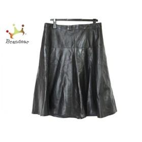ニジュウサンク 23区 スカート サイズ44 L レディース 美品 黒 羊革 新着 20191001