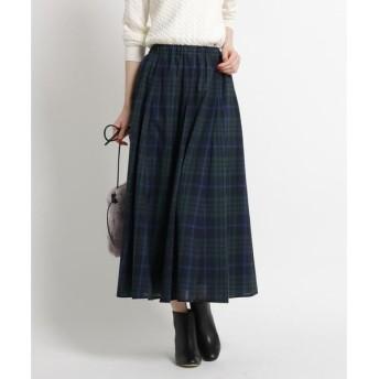 Dessin / デッサン 【Sサイズ・Lサイズあり、ウエストゴム】ガーゼチェックロングスカート