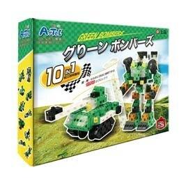 信誼 Artec日本彩色積木-變形系列綠色轟炸戰士