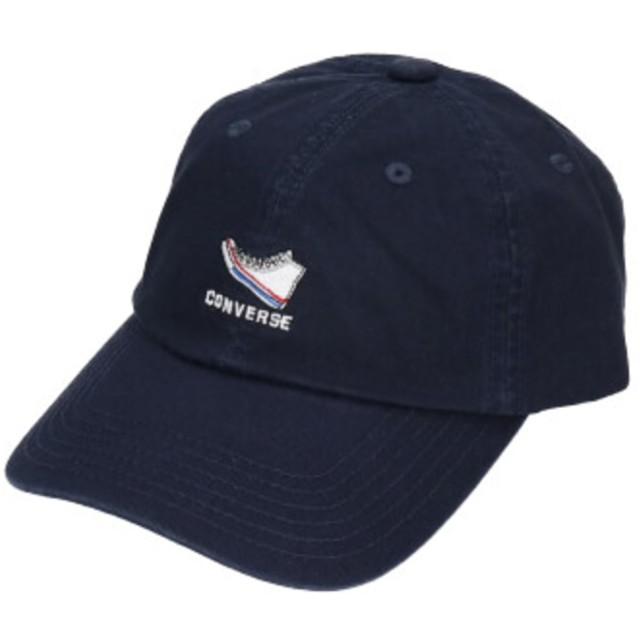 【オンワード】 Hat Homes(ハットホームズ) 【コンバース】 シューズロゴ コットンツイルキャップ NAVY 57~59cm レディース