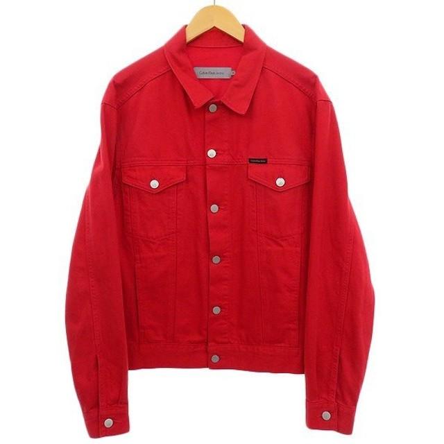 Calvin Klein Jeans デニムジャケット レッド サイズ:M (明石店) 191002