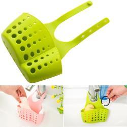馬卡龍水槽收納雙掛籃 x6入/ 廚房海綿 /收納架/ 水槽置物架/ 瀝水架/ 收納袋 掛袋