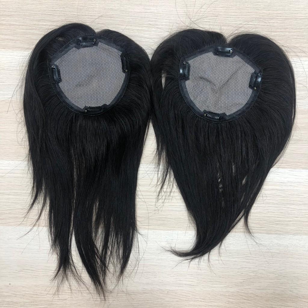 真髮髮片 頭頂髮片 蓋白髮 補禿專用 手工製仿真頭皮 6129 魔髮樂