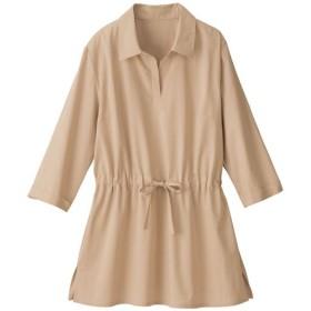 30%OFF【レディース大きいサイズ】 ウエストドロストスキッパーシャツ ■カラー:ベージュ ■サイズ:LL,3L,4L,6L