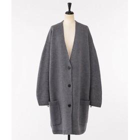 <ELIN> Felt oversized cardigan Lt. Gray【三越・伊勢丹/公式】