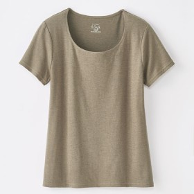 49%OFF【レディース】 S.Cafe コットンモダール WフロントTシャツ ■カラー:ライトブラウン ■サイズ:S,M,L