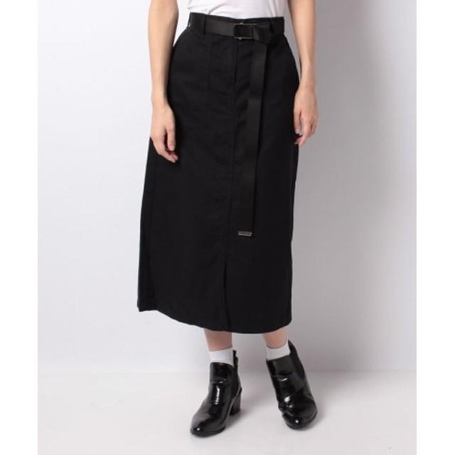 (GIORDANO/ジョルダーノ)[GIORDANO]ベルト付スカート/レディース ブラック