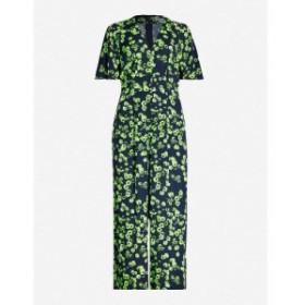 ホイッスルズ WHISTLES レディース オールインワン ジャンプスーツ ワンピース・ドレス floral-print crepe jumpsuit Black