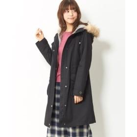 裏ボアライナー付モッズコート (大きいサイズレディース)コート,plus size