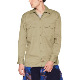 [ディッキーズ] Dickies 【公式】長袖ワークシャツ 574 メンズ DK000013 グリーン US S (日本サイズS相当)