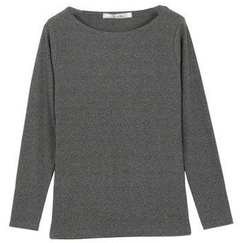 コウベレタス KOBE LETTUCE 前身二重長袖Tシャツ【Bネック】 [C3655] (ダークグレー)