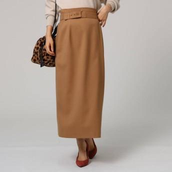 アンタイトル UNTITLED ツイルベルテッドタイトスカート (サンドベージュ)