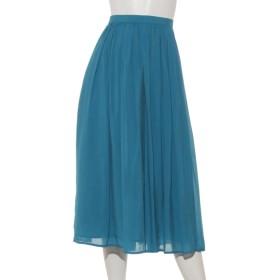 55%OFF INTERPLANET (インタープラネット) シルキーローンギャザースカート ターコイズ