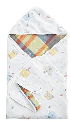 奇哥 動物派對六層紗包巾【奇哥正品】【淘氣寶寶】