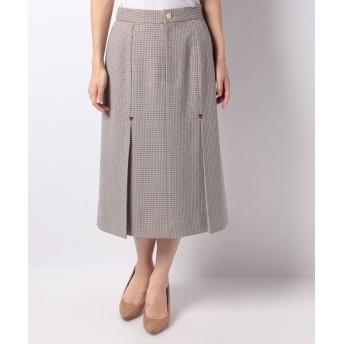 LAPINE BLEUE 千鳥チェックボックスプリーツスカート