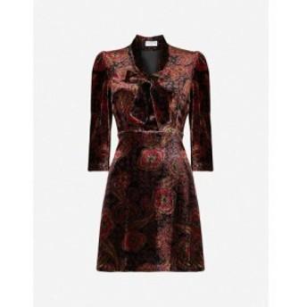 クローディ ピエルロ CLAUDIE PIERLOT レディース ワンピース ミニ丈 ワンピース・ドレス Resine graphic-pattern velvet mini dress Pri