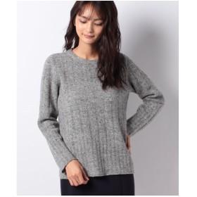 レリアン 【BIAGIOLI】カシミヤ混素材セーター(グレー系)