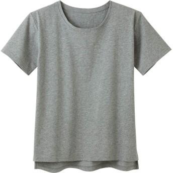 tシャツ Tシャツ レディース 無地 半袖 春夏 脇汗 綿100%汗ジミ目立ちにくいTシャツ(杢グレー LL)