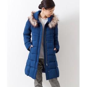 エコファー付ストレッチダウンコート(フランス産ダウン使用) (大きいサイズレディース)コート, plus size coat, 大衣