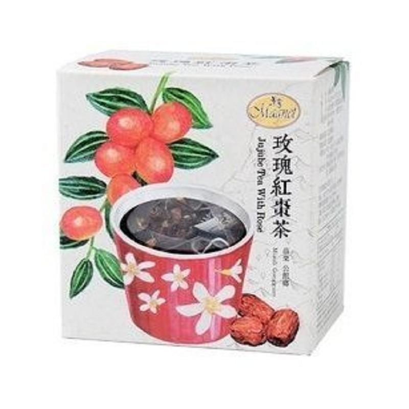 曼寧~玫瑰紅棗茶3公克x15入/盒 ×3盒~特惠中~