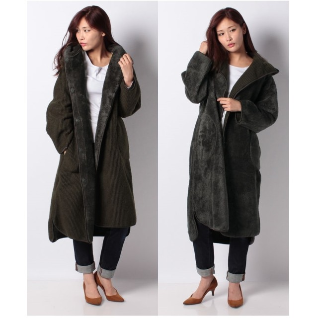 MARcourt 【MidiUmi】hoddy reversible coat(KHAKI)