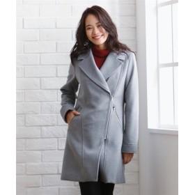 ライダース風ロングコート (大きいサイズレディース)コート,plus size