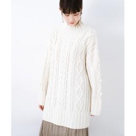 haco! ざっくり編みは女の子がかわいく見えるってよ(噂)パプコーンローゲージニット(アイボリー)