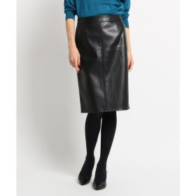 COUP DE CHANCE / クードシャンス フェイクラムタイトスカート