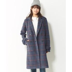 Lafarfa 20年1月号掲載!お家で洗える!フリースダブルチェスターコート (大きいサイズレディース)コート, plus size, Coat, 大衣