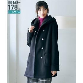 トールサイズ フリースフーテッドコート 【高身長・長身】コート, tall, Coat, 大衣