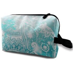 水彩動物象 化粧品袋 トラベルコスメティックバッグ 防水 大容量 荷物タグ付き 旅行収納ポーチ アレンジケース パッキングオーガナイザー 出張 旅行 衣類収納袋 スーツケース整理 インナーバッグ メッシュポーチ 収納ポーチ