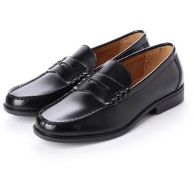 ジョーマリノ JO MARINO メンズ ローファー 学生靴 軽量 履き心地 クッション性 防滑 防臭 撥水加工 幅広 3E 通勤 通学 (ブラック)