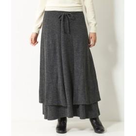 オトナスマイル冬号モニター人気1位ラップデザインカットソーロング丈スカート(オトナスマイル) (大きいサイズレディース)スカート,plus size