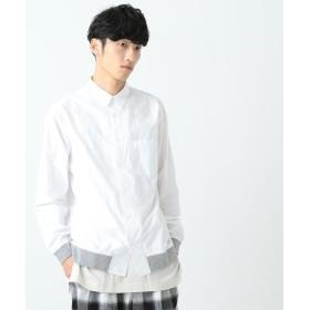 【60%OFF】 ビームス アウトレット BEAMS / 裾リブ タイプライターシャツ メンズ WHITE M 【BEAMS OUTLET】 【セール開催中】