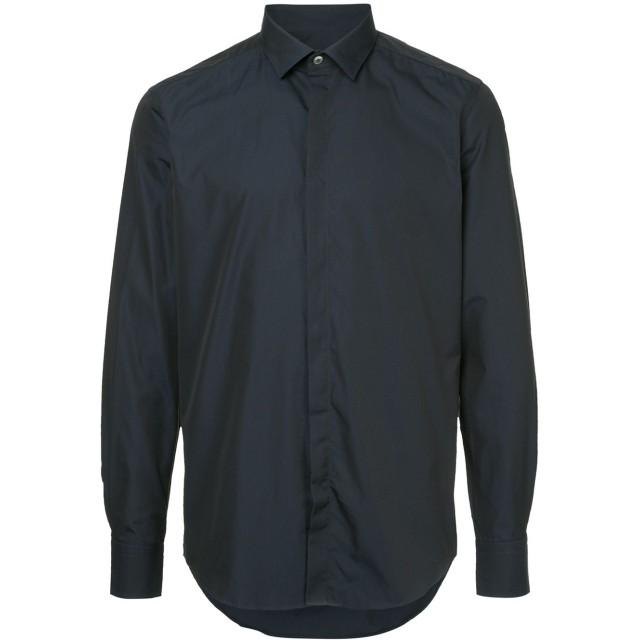 LANVIN shimmer smart shirt - ブルー