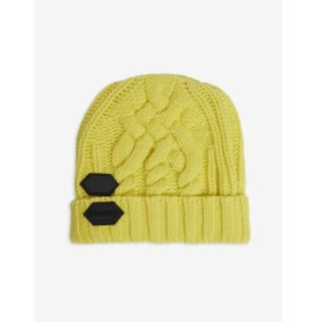 オフホワイト OFF-WHITE C/O VIRGIL ABLOH レディース ニット 帽子 knitted wool beanie hat Yellow