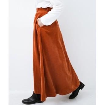 ハコ LadyLee ボリュームたっぷりのロングフレアースカート レディース オレンジ XS 【haco!】