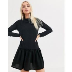 プリティリトルシング PrettyLittleThing レディース ワンピース シフトドレス ワンピース・ドレス long sleeve frill hem shift dress i