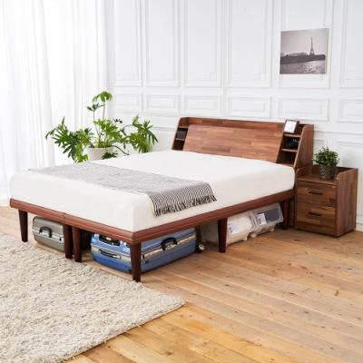 時尚屋 野崎5尺床箱型5件房間組 床箱+高腳床+床頭櫃2個+床墊 UZR8-10+1WG6-5771+UZR8-8*2