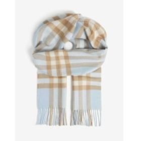 バーバリー BURBERRY レディース マフラー・スカーフ・ストール giant check cashmere scarf Pale blue /arc beige