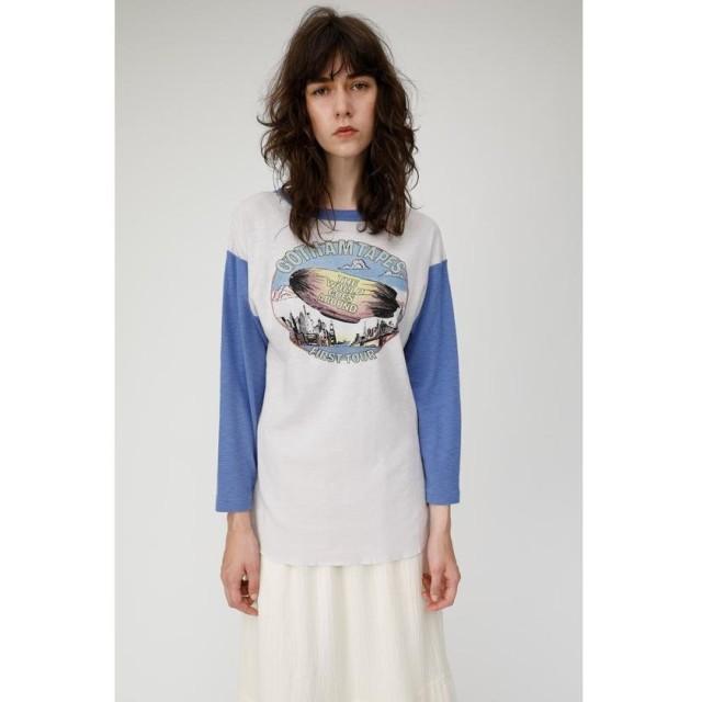 【50%OFF】 マウジー GOTHAM TAPES Tシャツ レディース 柄BLU5 FREE 【MOUSSY】 【タイムセール開催中】