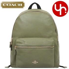 コーチ COACH バッグ リュック F29004 ミリタリーグリーン チャーリー ペブルド レザー バックパック アウトレット レディース