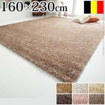 【送料無料】ベルギー製 ウィルトン織り シャギーラグ リエージュ 160x230cm ラグ カーペット じゅうたんカーペット カーペット 絨毯 防