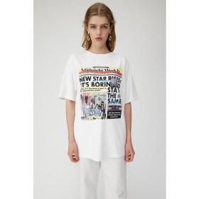 【50%OFF】 マウジー GRAFFITI NEWSPAPER Tシャツ レディース WHT FREE 【MOUSSY】 【セール開催中】
