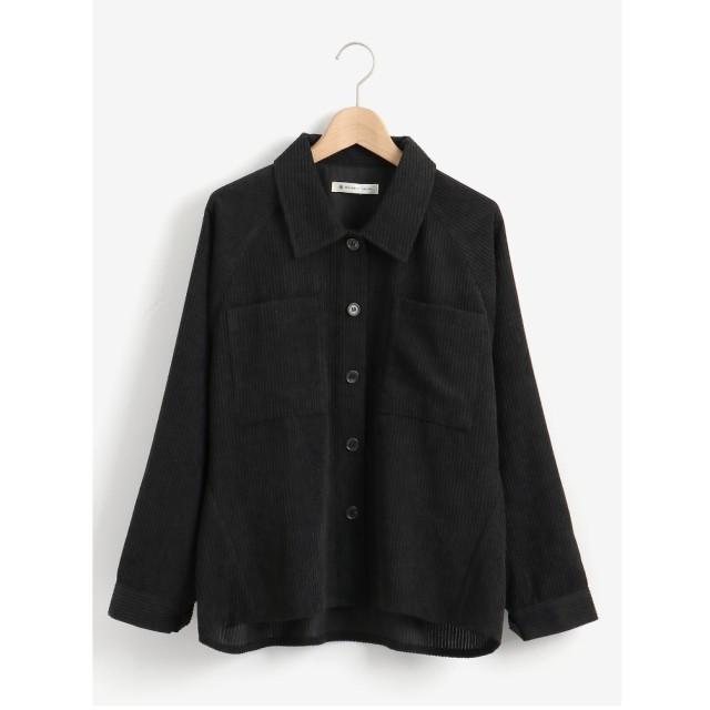 MAJESTIC LEGON 太コールオーバーシャツ(ブラック)